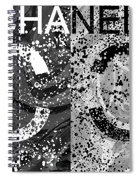 Black And White Chanel Art Spiral Notebook