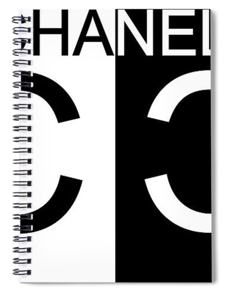 Black And White Chanel Spiral Notebook