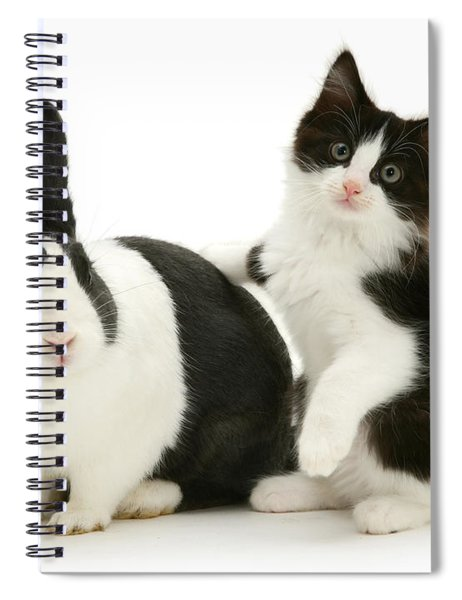 Black And White Double Act Spiral Notebook