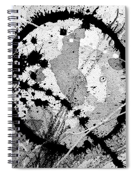 Black And White Five Spiral Notebook