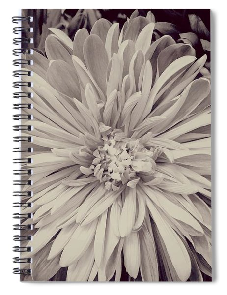 Black And White Flora Spiral Notebook