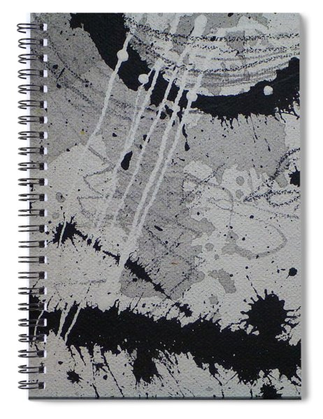 Black And White Four Spiral Notebook