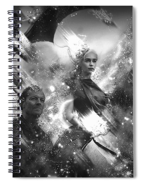 Black And White Games Of Thrones Another Story Spiral Notebook