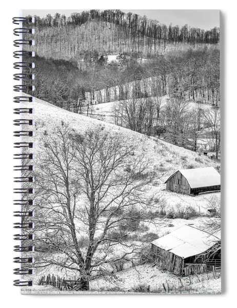 Black And White In Winter Spiral Notebook