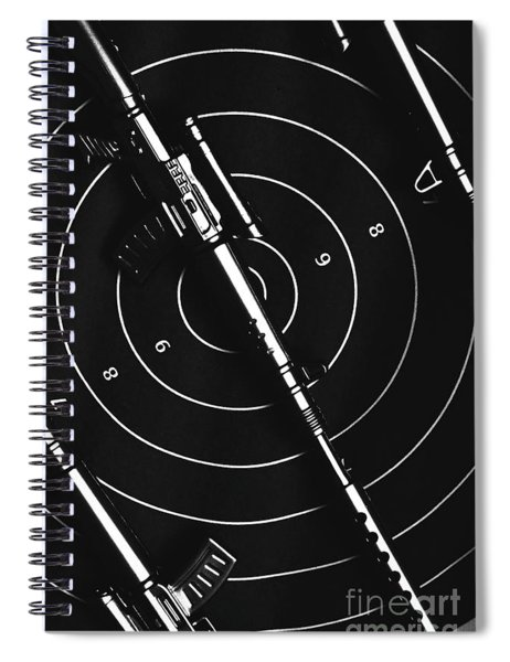 Black And White Military Marksman  Spiral Notebook