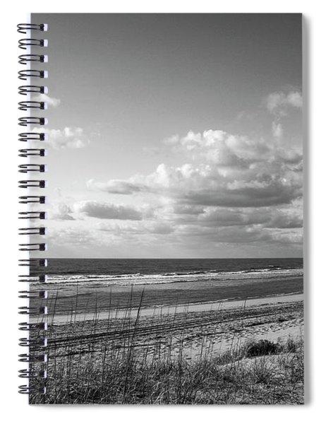 Black And White Ocean Scene Spiral Notebook