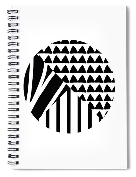 Black And White Patchwork Pattern Ball- Art By Linda Woods Spiral Notebook