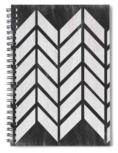 Black And White Quilt Spiral Notebook