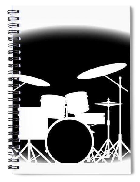 Black And White Rock Band Poster Spiral Notebook