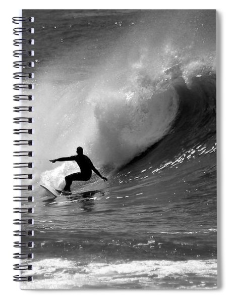 Black And White Surfer Spiral Notebook