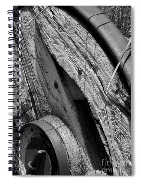 Black And White Wagon Wheel 1 Spiral Notebook