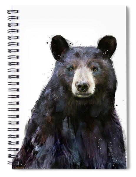 Black Bear Spiral Notebook by Amy Hamilton