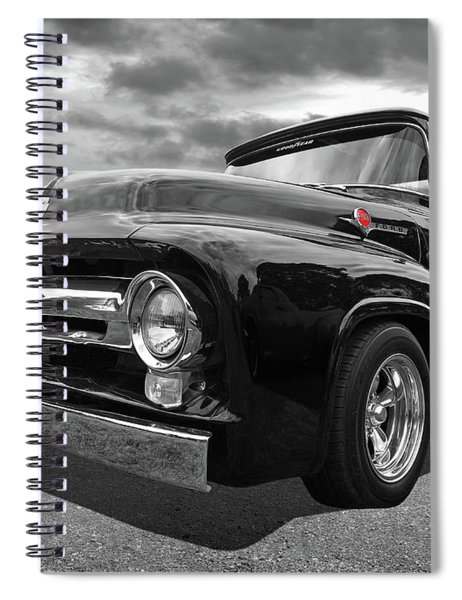 Black Beauty - 1956 Ford F100 Spiral Notebook