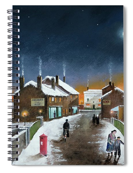 Black Country Winter Spiral Notebook