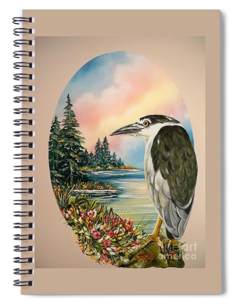 Flying Lamb Productions                     Black Crowned Heron Spiral Notebook