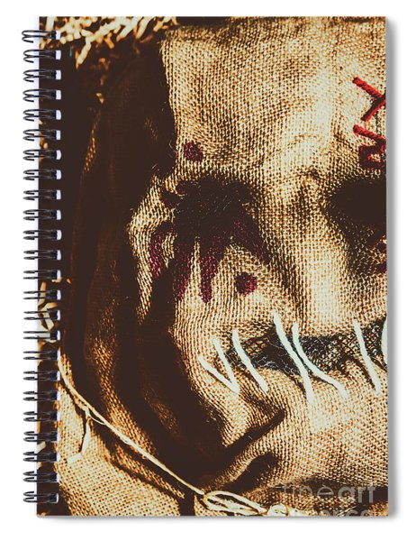 Black Eyes And Dried Out Hearts Spiral Notebook