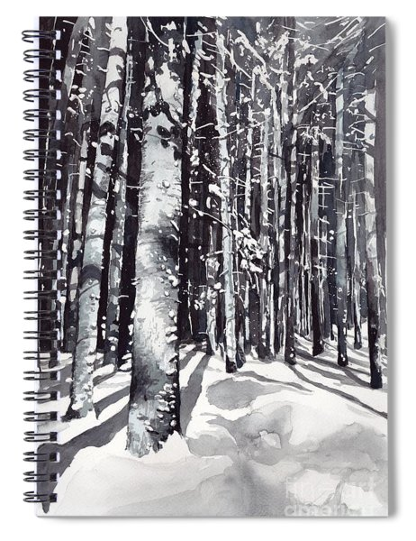Black Forest Watercolor Spiral Notebook