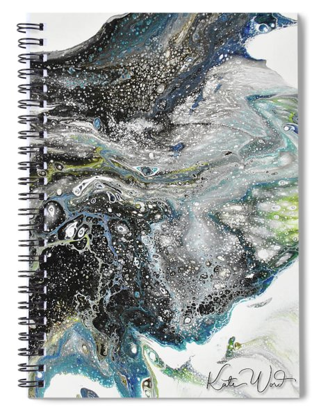 Black Ice 3 Spiral Notebook by Kate Word