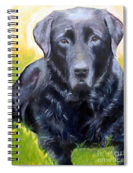 Black Lab Pet Portrait Spiral Notebook