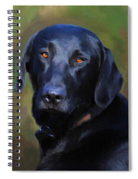 Black Lab Portrait Spiral Notebook