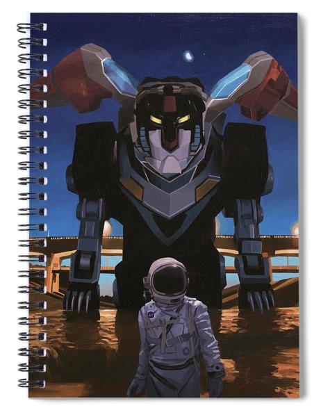 Black Lion Spiral Notebook by Scott Listfield