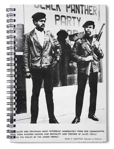Black Panther Poster, 1968 Spiral Notebook