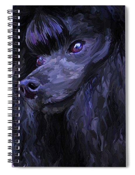Black Poodle - Square Spiral Notebook