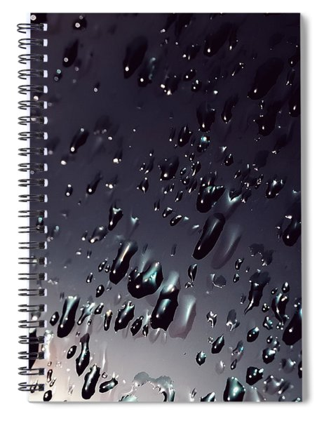 Black Rain Spiral Notebook
