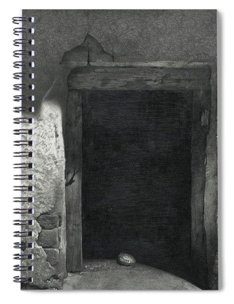 Black Rectangle  Spiral Notebook