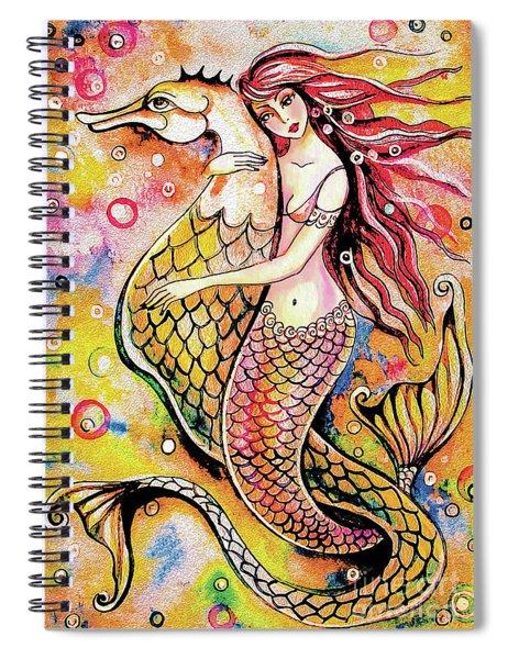 Black Sea Mermaid Spiral Notebook