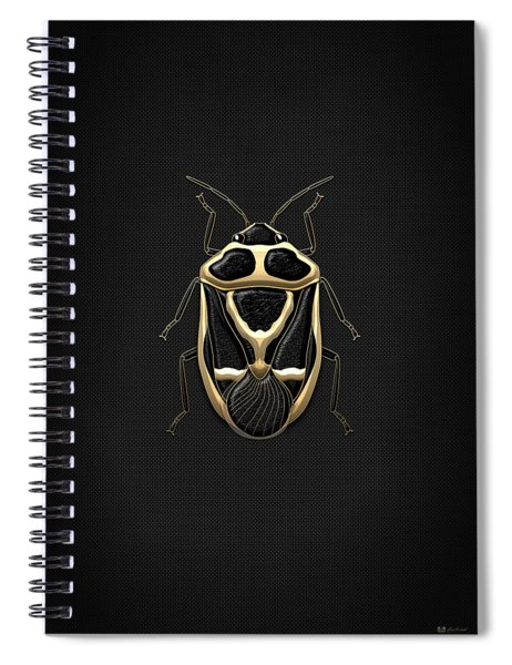 Black Shieldbug With Gold Accents  Spiral Notebook