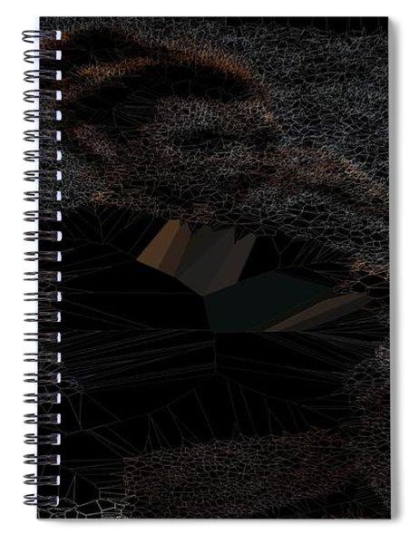 Black T-shirt Thinker Spiral Notebook