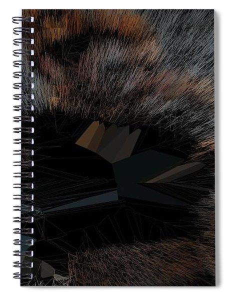 Black T-shirt Thinker Warp Spiral Notebook