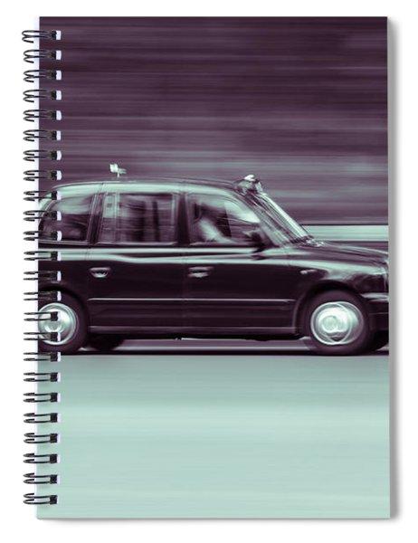 Black Taxi Bw Blur Spiral Notebook