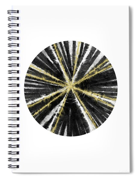 Black, White And Gold Ball- Art By Linda Woods Spiral Notebook