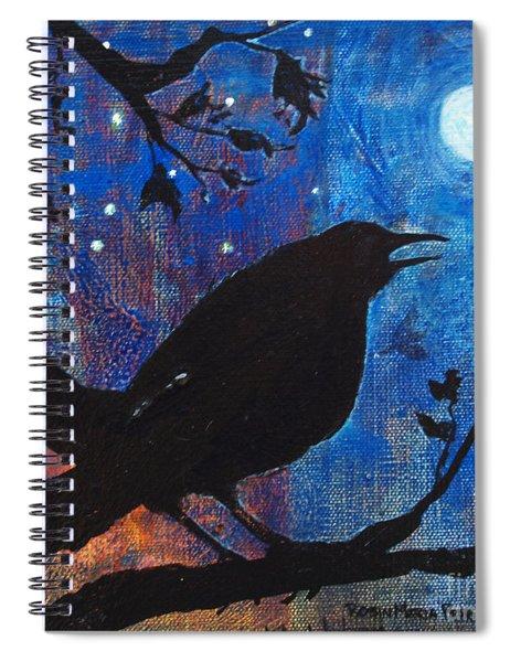 Blackbird Singing Spiral Notebook