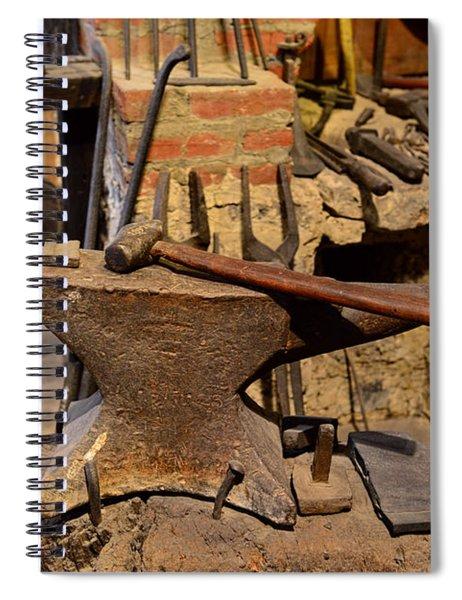 Blacksmith - Anvil And Hammer Spiral Notebook