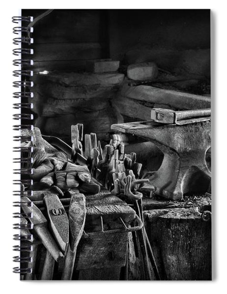 Blacksmith-this Is My Anvil Black And White Spiral Notebook