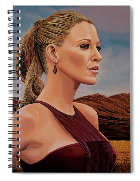 Blake Lively Painting Spiral Notebook