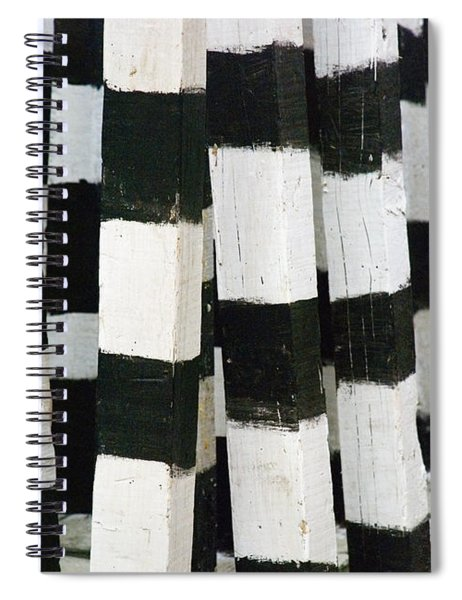 Spiral Notebook featuring the photograph Blanco Y Negro by Skip Hunt