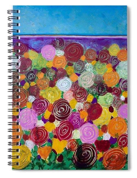 Blanket Of Blooms Spiral Notebook