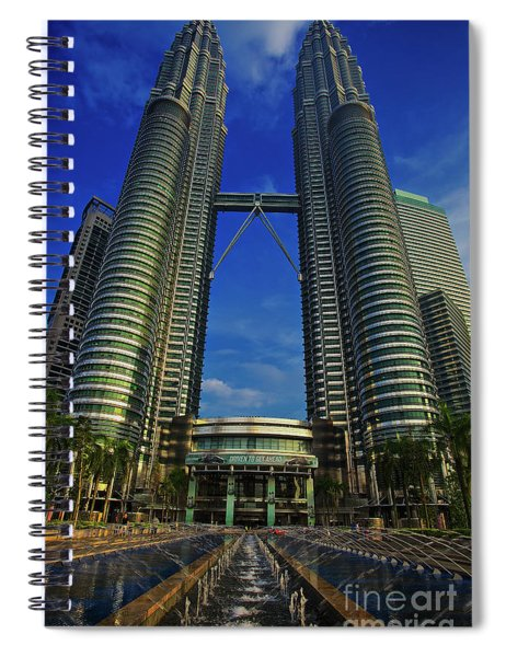 Blast Off At The Petronas Twin Towers, Kuala Lumpur, Malaysia Spiral Notebook