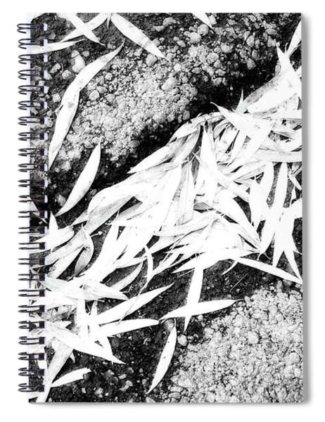 Bleached Winter Leaves Spiral Notebook
