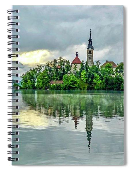 Bled At Sunrise Spiral Notebook