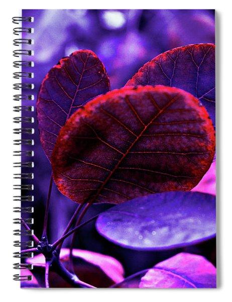 Bleeding Violet Smoke Bush Leaves - Pantone Violet Ec Spiral Notebook