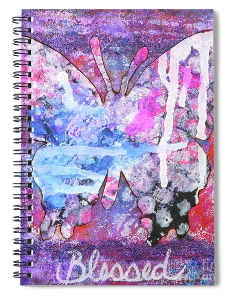 Blessed Butterfly Spiral Notebook