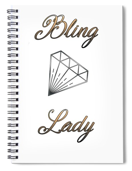 Bling Lady Spiral Notebook