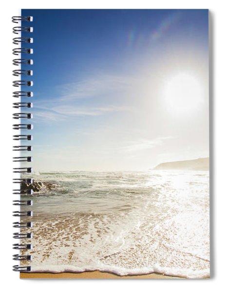 Blissful Ocean Panorama Spiral Notebook