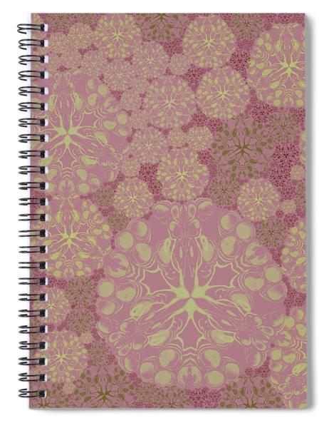 Blob Flower Painting #3 Pink Spiral Notebook