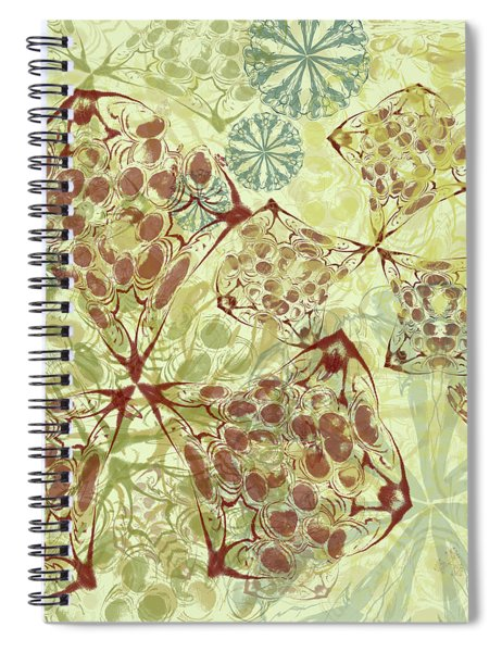 Blob Flower Painting #1 Pale Yellow Spiral Notebook